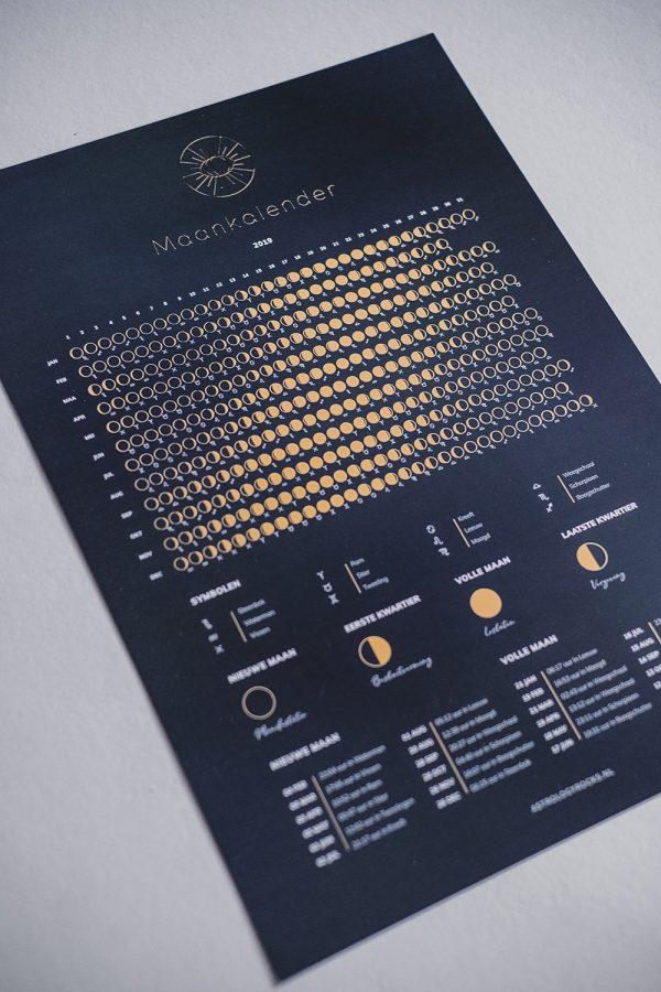 Maankalender 2020 schuin