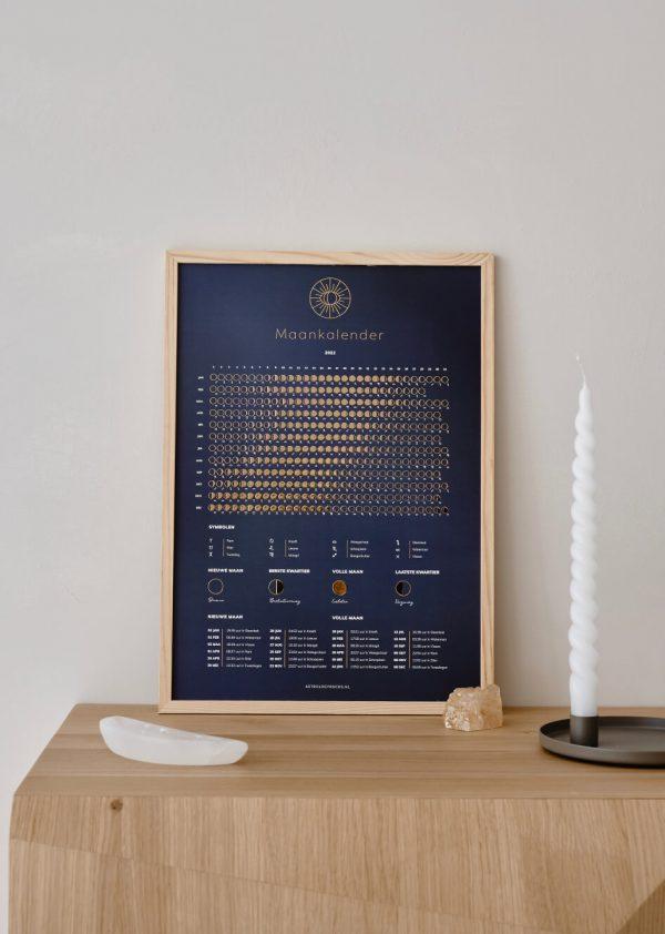 Maankalender 2022 - Blauw